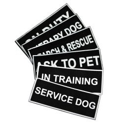 Pair of Working Dog Patches