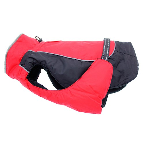 Red Black Solid Alpine All Weather Coat